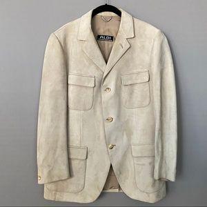ALDI Imported From Spain Men's Suede Blazer Jacket